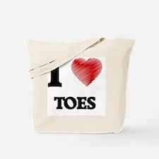 I love Toes Tote Bag