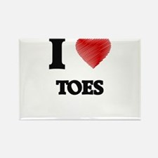 I love Toes Magnets