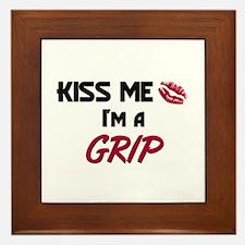 Kiss Me I'm a GRIP Framed Tile