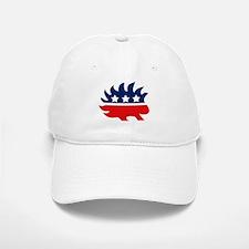 Libertarian Porcupine Baseball Baseball Cap