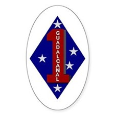 1st Marine Division Oval Decal