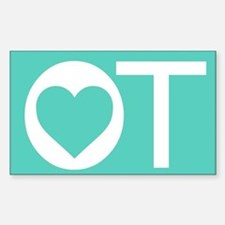 OT Occupational Therapy Heart Decal