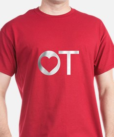OT Occupational Therapy Heart T-Shirt