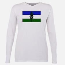 Flag of Cascadia Plus Size Long Sleeve Tee