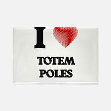 I love Totem Poles Magnets