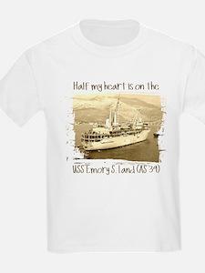 3-USS Emory S. Land (AS 39) T-Shirt