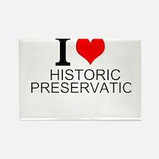 I Love Historic Preservation Magnets