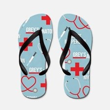 Grey's Anatomy Pattern Flip Flops