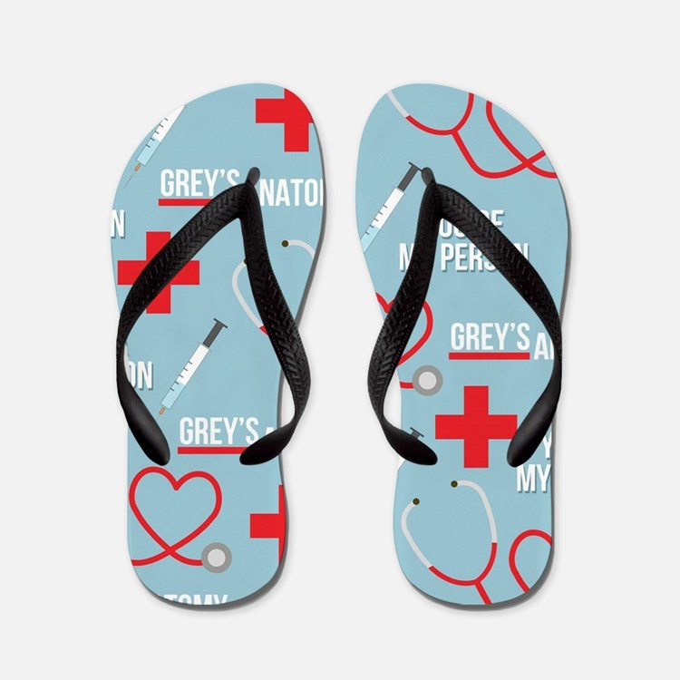 Grey's Anatomy Pattern Flip Flops