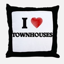 I love Townhouses Throw Pillow