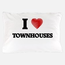 I love Townhouses Pillow Case
