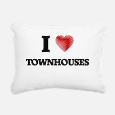 I love Townhouses Rectangular Canvas Pillow