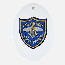 Colorado State Patrol Mason Oval Ornament