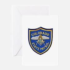 Colorado State Patrol Mason Greeting Cards