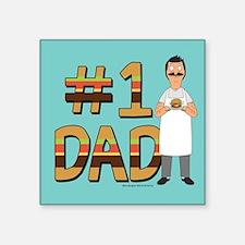 "Bob's Burgers #1 Dad Square Sticker 3"" x 3"""