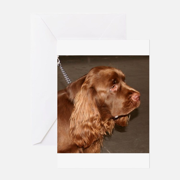sussex spaniel Greeting Cards