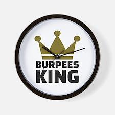 Burpees king Wall Clock