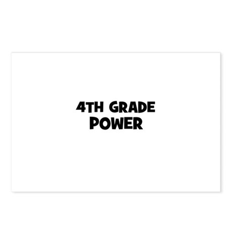 4th Grade Power Postcards (Package of 8) by greatschoolgear