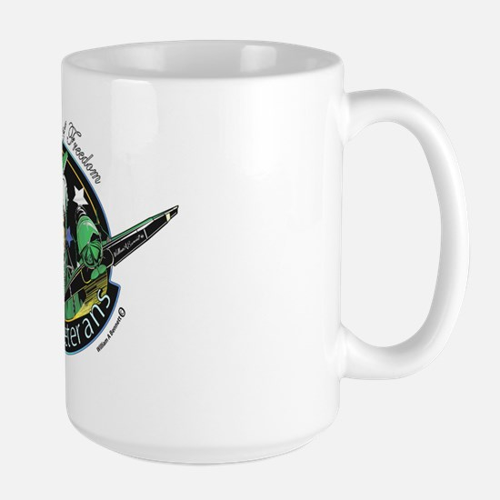 The Balance of freedom Women Veterans Large Mug