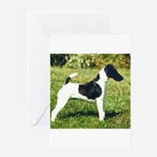 smooth fox terrier full Greeting Cards