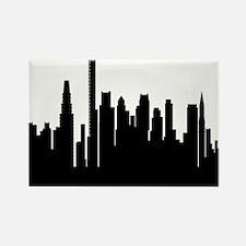 Cute Boston skyline Rectangle Magnet