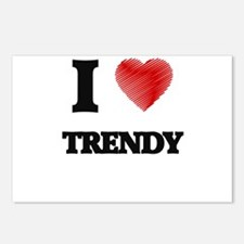 I love Trendy Postcards (Package of 8)