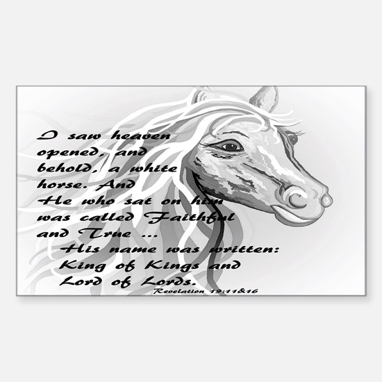 White Horse of a King Decal