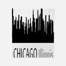 Cute Chicago black hawks Throw Blanket