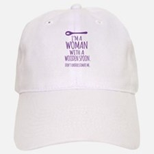 Woman With a Wooden Spoon Baseball Baseball Cap
