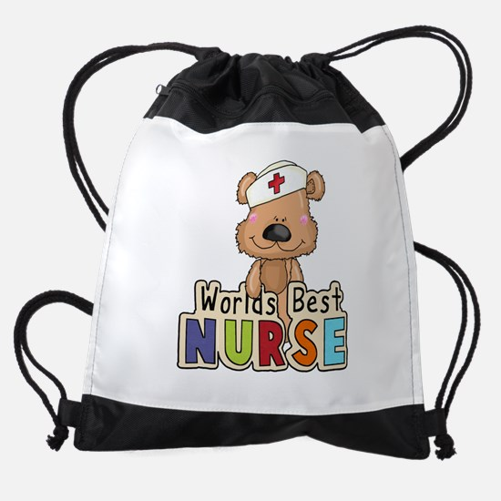 The World's Best Nurse Drawstring Bag
