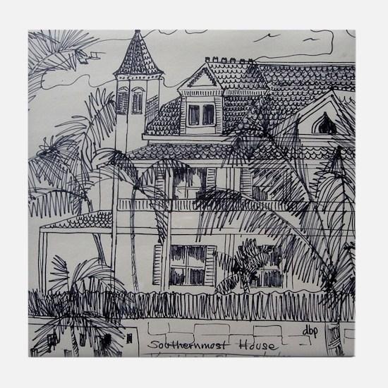 Southernmost House - Key West, Fla. Tile Coaster
