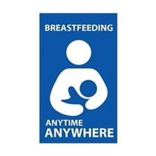 Breastfeeding Anytime Anywhere Rectangular Decal