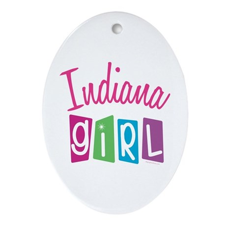 INDIANA GIRL! Oval Ornament