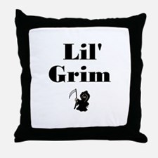 Lil' Grim  Throw Pillow
