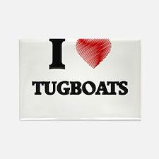 I love Tugboats Magnets