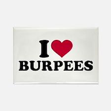 I love Burpees Rectangle Magnet (10 pack)