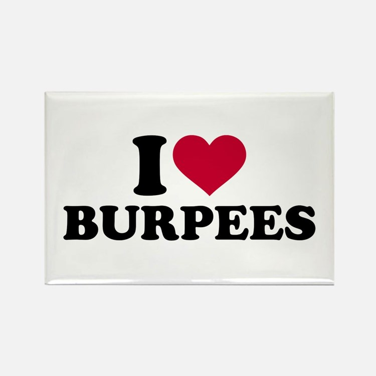 I love Burpees Rectangle Magnet (10 pack)