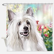 Chinese Crested Painting Shower Curtain