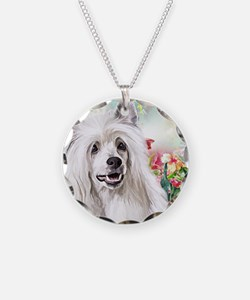 Chinese Crested Painting Necklace