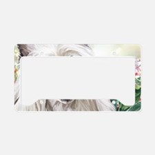 Chinese Crested Painting License Plate Holder