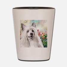 Chinese Crested Painting Shot Glass