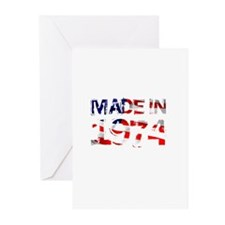 Made In USA 1974 Greeting Cards (Pk of 10)