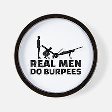 Real men do burpees Wall Clock