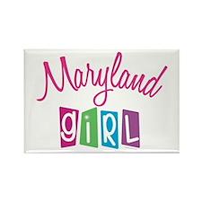 MARYLAND GIRL! Rectangle Magnet (10 pack)