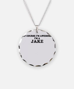 Of course I'm Awesome, Im JA Necklace Circle Charm
