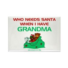 Santa Grandma Rectangle Magnet