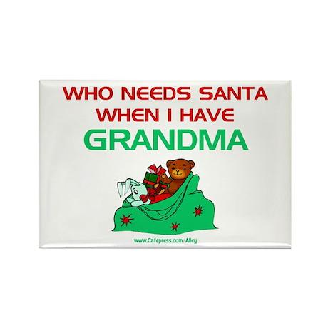 Santa Grandma Rectangle Magnet
