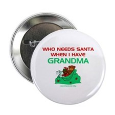 Santa Grandma Button