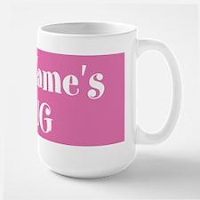 PINK Personalized Large Mug