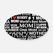 Unique Mother Oval Car Magnet